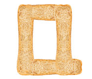 Isolate Bread Alphabet. Isolate bread letter, alphabet on white background Royalty Free Stock Photo