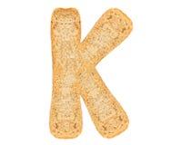 Isolate Bread Alphabet Stock Image