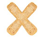 Isolate Bread Alphabet Stock Photos