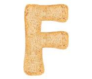 Isolate Bread Alphabet Royalty Free Stock Photo