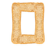Isolate Bread Alphabet. Isolate bread letter, alphabet on white background Stock Photography