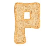 Isolate Bread Alphabet. Isolate bread letter, alphabet on white background Stock Photo