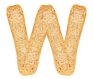 Isolate Bread Alphabet Royalty Free Stock Photos