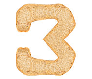 Isolate Bread Number Royalty Free Stock Images