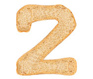 Isolate Bread Number Stock Image
