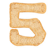 Isolate Bread Number Stock Photography
