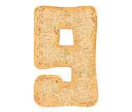 Isolate Bread Number Royalty Free Stock Photos