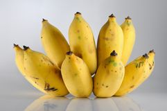 Isolate bunch of ripe banana Stock Image