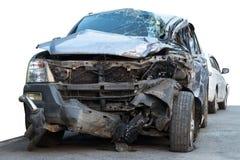 Isolate car demolished. Royalty Free Stock Image
