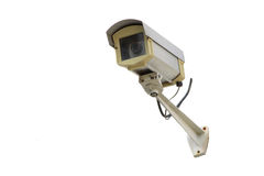 Isolate CCTV Camera Stock Photo