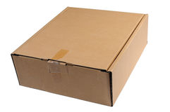 Isolate closed paper box. On a white background royalty free stock photos