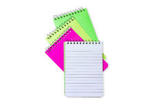 Isolate colourful blank note books. Including path liner royalty free stock images