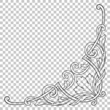 Isolate corner ornament in baroque style. Isolate vintage baroque ornament retro pattern antique style acanthus. Decorative design element filigree calligraphy Stock Photo