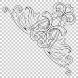 Isolate corner ornament in baroque style Royalty Free Stock Images