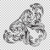 Isolate corner ornament in baroque style Royalty Free Stock Photography