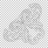 Isolate corner ornament in baroque style. Isolate vintage baroque ornament retro pattern antique style acanthus. Decorative design element filigree calligraphy Royalty Free Stock Photography