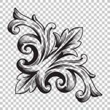 Isolate corner ornament in baroque style Stock Image