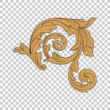 Isolate corner ornament Royalty Free Stock Image