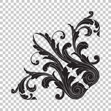 Isolate corner ornament. Isolate vintage baroque ornament retro pattern antique style acanthus. Decorative design element filigree calligraphy vector. You can Stock Photo