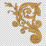 Isolate corner ornament Royalty Free Stock Photos