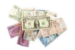 Isolate dollars money bills on a white background Royalty Free Stock Image