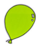 Isolate drawing balloons. Stock Images