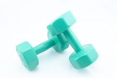 Isolate Dumbell Stock Photo