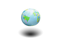 Isolate earth model Royalty Free Stock Photos