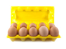 Isolate eggs in the package Royalty Free Stock Images