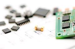isolate elektroniczny materiał Obrazy Stock