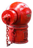 Isolate Fire Protection Pipe. Is the old red dirt and rust Stock Photography