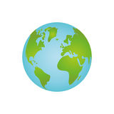 Isolate globe world Royalty Free Stock Photos