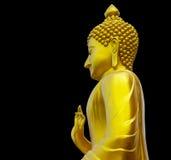 Isolate golden Buddha. Royalty Free Stock Image