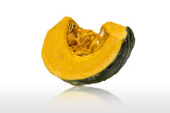 Isolate haft of Japanese big Pumpkin Royalty Free Stock Images