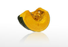 Isolate haft of Japanese Pumpkin Stock Photo
