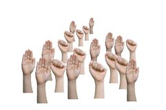 Isolate hands sign Royalty Free Stock Photography