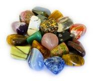 isolate kolorowi kamienie Zdjęcia Stock