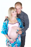 isolate mężczyzna kobieta w ciąży zdjęcie royalty free
