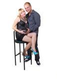 isolate mężczyzna kobieta w ciąży Obraz Royalty Free