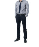 Isolate Man in trendy suit standing alone in white background Royalty Free Stock Image