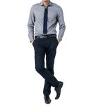 Isolate Man in trendy suit standing alone in white background Royalty Free Stock Images