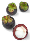 Isolate mangosteen on white background, Stock Images