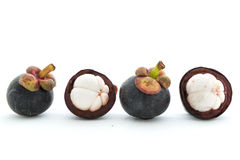 Isolate mangosteen on white background Royalty Free Stock Photos