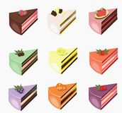 Isolate of many favor of cake. Isolate of many sweet favor of cake royalty free illustration