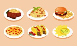 Isolate of menu food. Royalty Free Stock Image
