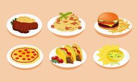 Isolate of menu food. Isolate of menu of food Stock Illustration