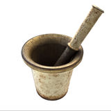 Isolate metal mortar Royalty Free Stock Images