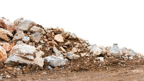 Isolate Mountain Pile Of Various Rocks Stock Photography