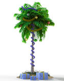 Isolate New Year palm tree with decoration concept holiday Stock Images