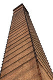 Isolate old brick chimney. Stock Images